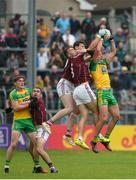 22 July 2017; Michael Murphy of Donegal in action against Thomas Flynn, left, and Paul Conroy of Galway  during the GAA Football All-Ireland Senior Championship Round 4A match between Galway and Donegal at Markievicz Park in Co. Sligo. Photo by Oliver McVeigh/Sportsfile
