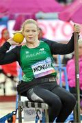 22 July 2017; Deirdre Mongan of Ireland competing in the Women's Shot Put, F53, Final during the 2017 Para Athletics World Championships at the Olympic Stadium in London. Photo by Luc Percival/Sportsfile
