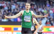 22 July 2017; Michael McKillop of Ireland after winning the Men's 1500m, T37, Final during the 2017 Para Athletics World Championships at the Olympic Stadium in London. Photo by Luc Percival/Sportsfile