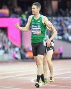 22 July 2017; Michael McKillop of Ireland after competing in the Men's 1500m, T37, Final during the 2017 Para Athletics World Championships at the Olympic Stadium in London. Photo by Luc Percival/Sportsfile