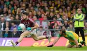 22 July 2017; Damien Comer of Galway in action against Neil McGee of Donegal during the GAA Football All-Ireland Senior Championship Round 4A match between Galway and Donegal at Markievicz Park in Co. Sligo. Photo by Oliver McVeigh/Sportsfile