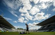 23 July 2017; William Fahy lines the pitch ahead of the GAA Hurling All-Ireland Senior Championship Quarter-Final match between Wexford and Waterford at Páirc Uí Chaoimh in Cork. Photo by Cody Glenn/Sportsfile