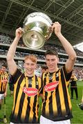 23 July 2017; Sean Carey and James Power of Kilkenny celebrate with the cup after the GAA Hurling All-Ireland Intermediate Championship Final match between Cork and Kilkenny at Páirc Uí Chaoimh in Cork. Photo by Ray McManus/Sportsfile