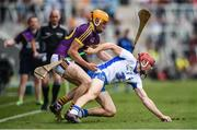 23 July 2017; Tadhg de Búrca of Waterford in action against Podge Doran of Wexford during the GAA Hurling All-Ireland Senior Championship Quarter-Final match between Wexford and Waterford at Páirc Uí Chaoimh in Cork. Photo by Stephen McCarthy/Sportsfile