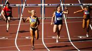 23 July 2017; Sarah Lavin of UCD AC, Co. Dublin, second left, on her way to winning the Women's 110m Hurdles, ahead of Catherine McManus of Dublin City Harriers, Co. Dublin, second right, who finished second, during the Irish Life Health National Senior Track & Field Championships – Day 2 at Morton Stadium in Santry, Co. Dublin. Photo by Sam Barnes/Sportsfile