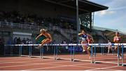 23 July 2017; Sarah Lavin, UCD AC, Dublin, on her way to winning the Women's 100m Hurdles event, during the Irish Life Health National Senior Track & Field Championships – Day 2 at Morton Stadium in Santry, Co. Dublin. Photo by Tomás Greally/Sportsfile