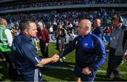 23 July 2017; Wexford manager Davy Fitzgerald, left, shakes hands with Waterford manager Derek McGrath following the GAA Hurling All-Ireland Senior Championship Quarter-Final match between Wexford and Waterford at Páirc Uí Chaoimh in Cork. Photo by Stephen McCarthy/Sportsfile