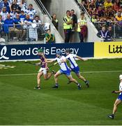 23 July 2017; Lee Chin of Wexford in action against Shane Fives of Waterford during the GAA Hurling All-Ireland Senior Championship Quarter-Final match between Wexford and Waterford at Páirc Uí Chaoimh in Cork. Photo by Cody Glenn/Sportsfile