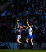 23 July 2017; Diarmuid O'Keeffe of Wexford in action against Darragh Fives of Waterford during the GAA Hurling All-Ireland Senior Championship Quarter-Final match between Wexford and Waterford at Páirc Uí Chaoimh in Cork. Photo by Ray McManus/Sportsfile