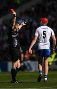 23 July 2017; Tadhg de Búrca of Waterford is shown a red card by referee Fergal Horgan late in the GAA Hurling All-Ireland Senior Championship Quarter-Final match between Wexford and Waterford at Páirc Uí Chaoimh in Cork. Photo by Ray McManus/Sportsfile
