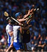 23 July 2017; Lee Chin and Jake Dillon of Waterford in action against Philip Mahony of Waterford during the GAA Hurling All-Ireland Senior Championship Quarter-Final match between Wexford and Waterford at Páirc Uí Chaoimh in Cork. Photo by Cody Glenn/Sportsfile