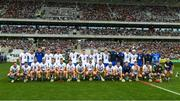 23 July 2017; The Waterford squad before the GAA Hurling All-Ireland Senior Championship Quarter-Final match between Wexford and Waterford at Páirc Uí Chaoimh in Cork. Photo by Ray McManus/Sportsfile