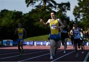 23 July 2017; Mark English of UCD AC, Co. Dublin, celebrates after winning the Men's 800m during the Irish Life Health National Senior Track & Field Championships – Day 2 at Morton Stadium in Santry, Co. Dublin. Photo by Sam Barnes/Sportsfile