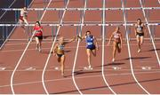 23 July 2017; Sarah Lavin of UCD AC, Co. Dublin, centre left, on her way to winning the Women's 110m Hurdles, ahead of Catherine McManus of Dublin City Harriers, Co. Dublin, centre right, who finished second, during the Irish Life Health National Senior Track & Field Championships – Day 2 at Morton Stadium in Santry, Co. Dublin. Photo by Sam Barnes/Sportsfile