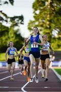 23 July 2017; Emma Mitchell of Queens University AC, Co. Antrim, celebrates winning the Women's 1500m during the Irish Life Health National Senior Track & Field Championships – Day 2 at Morton Stadium in Santry, Co. Dublin. Photo by Sam Barnes/Sportsfile