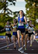 23 July 2017; Emma Mitchell of Queens University AC, Co. Antrim, on her way to winning the Women's 1500m during the Irish Life Health National Senior Track & Field Championships – Day 2 at Morton Stadium in Santry, Co. Dublin. Photo by Sam Barnes/Sportsfile