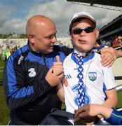 23 July 2017; Waterford manager Derek McGrath meets Waterford supporter Daniel Moloney, age 18, from Youghal, Co Waterford, following the GAA Hurling All-Ireland Senior Championship Quarter-Final match between Wexford and Waterford at Páirc Uí Chaoimh in Cork. Photo by Cody Glenn/Sportsfile