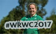 24 July 2017; Ireland captain Niamh Briggs during the Ireland Women's Rugby World Cup Squad Announcement at the UCD Bowl, in Belfield, Dublin. Photo by Piaras Ó Mídheach/Sportsfile
