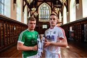 24 July 2017; Limerick's Peter Casey and Cork's Patrick Collins were in UCC today to look ahead to this week's Bord Gáis Energy GAA Hurling U-21 Munster Final. The game takes place on Wednesday 26 July in the Gaelic Grounds, Limerick with a 7.30pm throw-in time. Fans unable to attend the game can catch all the action live on TG4 or follow #HurlingToTheCore online. Photo by Ramsey Cardy/Sportsfile