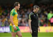 22 July 2017; Michael Murphy of Donegal and Donegal manager Rory Gallagher before the GAA Football All-Ireland Senior Championship Round 4A match between Galway and Donegal at Markievicz Park in Co. Sligo. Photo by Oliver McVeigh/Sportsfile