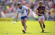 23 July 2017; Jake Dillon of Waterford in action against Willie Devereux of Wexford during the GAA Hurling All-Ireland Senior Championship Quarter-Final match between Wexford and Waterford at Páirc Uí Chaoimh in Cork. Photo by Stephen McCarthy/Sportsfile