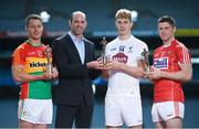 26 July 2017; Dermot Earley, Chief Executive of the GPA, presents the GAA/GPA Player of the Month award for June to Kildare footballer Daniel Flynn alongside GAA/GPA Players of the Month for May, Carlow footballer Paul Broderick, and Cork hurler Conor Lehane, at Croke Park in Dublin. Photo by Cody Glenn/Sportsfile