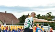 26 July 2017; Team Ireland's Ciara Sheehy, from Charleville, Co. Cork, competing in the women's shot put final during the European Youth Olympic Festival 2017 at Olympic Park in Gyor, Hungary. Photo by Eóin Noonan/Sportsfile