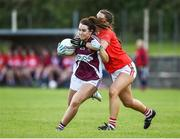 26 July 2017; Ailish Morrissey of Galway in action against Bridgit Wall of Cork during the All Ireland Ladies Football Under 16 A Final match between Cork and Galway at McDonagh Park, Nenagh, Co. Tipperary. Photo by Seb Daly/Sportsfile