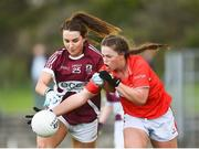 26 July 2017; Ailish Morrissey of Galway in action against Áine Keating of Cork during the All Ireland Ladies Football Under 16 A Final match between Cork and Galway at McDonagh Park, Nenagh, Co. Tipperary. Photo by Seb Daly/Sportsfile