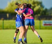 26 July 2017; Waterford players Roisin Dunphy, Megan Foran and Rosie Landers celebrate after the final whistle at the All Ireland Ladies Football during the All Ireland Ladies Football Under 16 B Final match between Kildare and Waterford at John Locke Park in Callan, Co Kilkenny. Photo by Matt Browne/Sportsfile