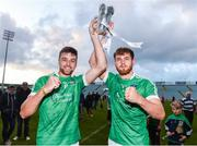 26 July 2017; Colin Ryan, left, and Darragh Fanning of Limerick celebrate with the cup after the Bord Gáis Energy Munster GAA Hurling Under 21 Championship Final match between Limerick and Cork at the Gaelic Grounds in Limerick. Photo by Diarmuid Greene/Sportsfile