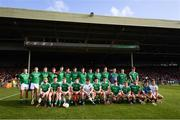 26 July 2017; The Limerick squad during the Bord Gáis Energy Munster GAA Hurling Under 21 Championship Final match between Limerick and Cork at the Gaelic Grounds in Limerick. Photo by Stephen McCarthy/Sportsfile