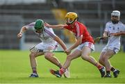 27 July 2017; Nathan Earner of Galway in action against Ronan Sheehan of Cork during the GAA Hurling All-Ireland U17 Championship Semi-Final match between Cork and Galway at Semple Stadium in Thurles, Tipperary. Photo by Sam Barnes/Sportsfile