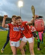 27 July 2017; Daire Connery, left, and Colin O'Brien of Cork celebrate following the GAA Hurling All-Ireland U17 Championship Semi-Final match between Cork and Galway at Semple Stadium in Thurles, Tipperary. Photo by Sam Barnes/Sportsfile