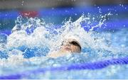 28 July 2017; Team Ireland's Sean Scannell, from Portlaoise, Co. Laois, competing in the men's 200m backstroke, heat 6, during the European Youth Olympic Festival 2017 at Olympic Park in Gyor, Hungary. Photo by Eóin Noonan/Sportsfile