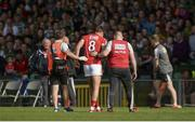 22 July 2017; Aidan Walsh of Cork leaves the field after he picked up an injury during the GAA Football All-Ireland Senior Championship Round 4A match between Cork and Mayo at Gaelic Grounds in Co. Limerick. Photo by Piaras Ó Mídheach/Sportsfile