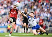 29 July 2017; Connaire Harrison of Down in action against Fintan Kelly of Monaghan during the GAA Football All-Ireland Senior Championship Round 4B match between Down and Monaghan at Croke Park in Dublin. Photo by Stephen McCarthy/Sportsfile