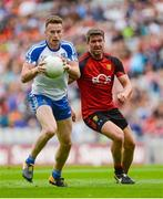 29 July 2017; Fintan Kelly of Monaghan in action against Peter Turley of Down during the GAA Football All-Ireland Senior Championship Round 4B match between Down and Monaghan at Croke Park in Dublin. Photo by Piaras Ó Mídheach/Sportsfile
