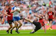 29 July 2017; Fintan Kelly of Monaghan in action against Niall McParland, bottom, and Peter Turley of Down during the GAA Football All-Ireland Senior Championship Round 4B match between Down and Monaghan at Croke Park in Dublin. Photo by Piaras Ó Mídheach/Sportsfile