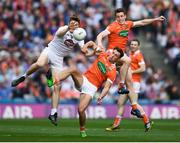 29 July 2017; Kevin Feely of Kildare in action against Charlie Vernon, right, and Stephen Sheridan of Armagh during the GAA Football All-Ireland Senior Championship Round 4B match between Armagh and Kildare at Croke Park in Dublin. Photo by Stephen McCarthy/Sportsfile