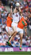 29 July 2017; Kevin Feely of Kildare in action against Charlie Vernon, left, and Stephen Sheridan of Armagh during the GAA Football All-Ireland Senior Championship Round 4B match between Armagh and Kildare at Croke Park in Dublin. Photo by Stephen McCarthy/Sportsfile