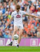 29 July 2017; Kevin Feely of Kildare kicks a point from a free during the GAA Football All-Ireland Senior Championship Round 4B match between Armagh and Kildare at Croke Park in Dublin. Photo by Piaras Ó Mídheach/Sportsfile