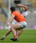 29 July 2017; Johnny Byrne of Kildare in action against Aidan Forker of Armagh during the GAA Football All-Ireland Senior Championship Round 4B match between Armagh and Kildare at Croke Park in Dublin. Photo by Piaras Ó Mídheach/Sportsfile