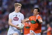 29 July 2017; Daniel Flynn of Kildare in action against James Morgan of Armagh during the GAA Football All-Ireland Senior Championship Round 4B match between Armagh and Kildare at Croke Park in Dublin. Photo by Stephen McCarthy/Sportsfile
