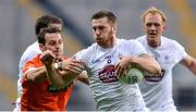 29 July 2017; Johnny Byrne of Kildare in action against Jamie Clarke of Armagh during the GAA Football All-Ireland Senior Championship Round 4B match between Armagh and Kildare at Croke Park in Dublin. Photo by Piaras Ó Mídheach/Sportsfile