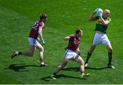 30 July 2017; Kieran Donaghy of Kerry beats Liam Silke and David Walsh, left, of Galway on his way to scoring his side's first goal during the GAA Football All-Ireland Senior Championship Quarter-Final match between Kerry and Galway at Croke Park in Dublin. Photo by Stephen McCarthy/Sportsfile