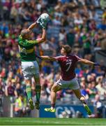 30 July 2017; Kieran Donaghy of Kerry wins possession over Liam Silke of Galway on his way to scoring his side's first goal during the GAA Football All-Ireland Senior Championship Quarter-Final match between Kerry and Galway at Croke Park in Dublin. Photo by Ramsey Cardy/Sportsfile