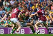 30 July 2017; Kieran Donaghy of Kerry is tackled by David Walsh, left, Liam Silke and David Walsh of Galway during the GAA Football All-Ireland Senior Championship Quarter-Final match between Kerry and Galway at Croke Park in Dublin. Photo by Ramsey Cardy/Sportsfile