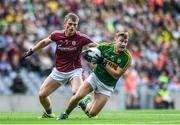 30 July 2017; James O'Donoghue of Kerry is tackled by Liam Silke of Galway during the GAA Football All-Ireland Senior Championship Quarter-Final match between Kerry and Galway at Croke Park in Dublin. Photo by Ramsey Cardy/Sportsfile