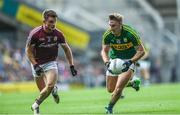 30 July 2017; James O'Donoghue of Kerry in action against Eoghan Kerin of Galway during the GAA Football All-Ireland Senior Championship Quarter-Final match between Kerry and Galway at Croke Park in Dublin. Photo by Ramsey Cardy/Sportsfile